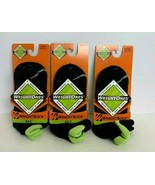 3 Pairs Of Small WrightSock WrightOnes SLC Crew Socks Black/Green CoolMesh  - $11.63