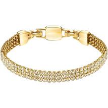 Authentic Swarovski Clim Crystal Mesh Bracelet, Yellow Gold - $96.49