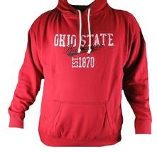 Men's Ohio State Buckeyes Hoodie Red Vintage est 1870 Pullover Hooded Sweatshirt