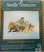"""THE YARN PARTY NEEDLE TREASURES Counted Cross Stitch 16"""" x 12"""" KITTENS YARN - $18.80"""