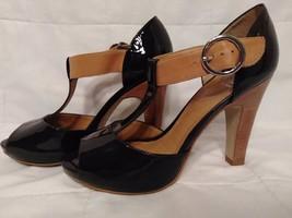 Gianni Bini Size 7M High Heels Dress Shoes Brown Tan Open Toe Silver Buc... - $22.27