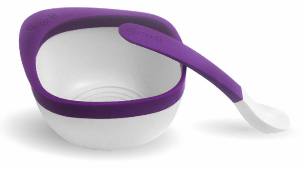 ZoLi MASH Bowl & Spoon Kit, Purple - A-BF14MSR001 Kids baby bowl containers