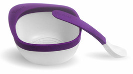 ZoLi MASH Bowl & Spoon Kit, Purple - A-BF14MSR001 Kids baby bowl containers - $9.35