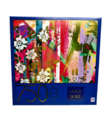 Gold Dore Wild Roses 750 Piece Jigsaw Puzzle Metallic Gold Abstract Flow... - $19.53