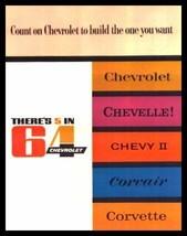 1964 Chevrolet Brochure Corvette Impala Bel Air Malibu - $11.88
