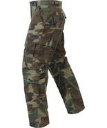 Camo Vintage Paratrooper Pants 8 Pocket Tactical Military BDU Woodland F... - $39.99+