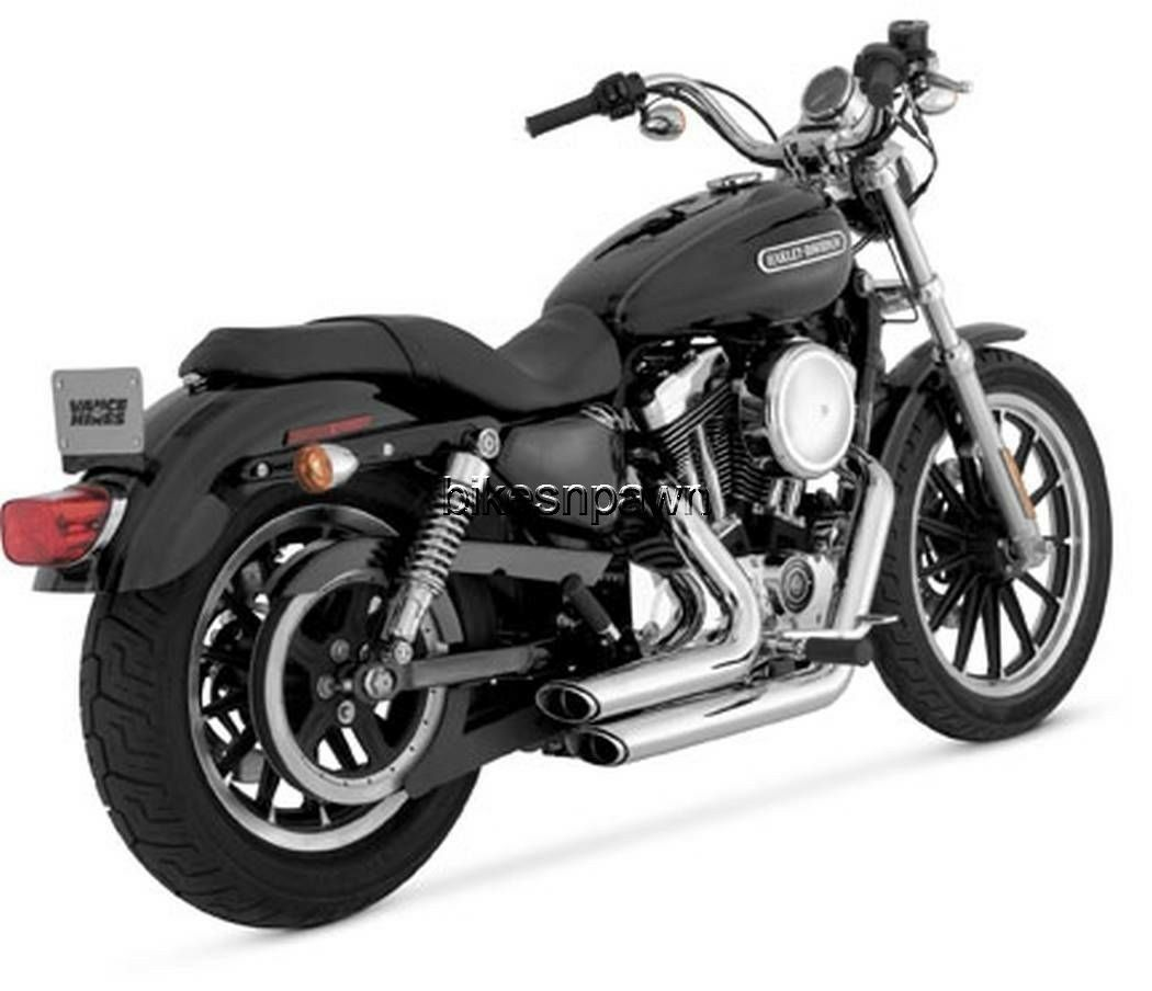 New Vance & Hines Shortshots Staggered Chrome 2004-2013 Sportster XL Harley