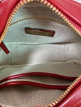 NWT Tory Burch Red Apple Kira Chevron Small Camera Bag $358 image 8