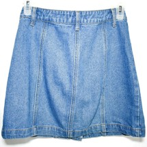 Forever 21 00095179 Button Up Denim Blue Jean Skirt Size S image 2