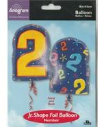 """Anagram Number """"2"""" size 18"""" Jr.Shape Foil Balloon - $12.58"""
