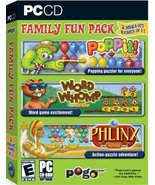 Pogo.com Family Fun Pack: Poppit! To Go / Word Whomp to Go / Phlinx to G... - $34.65