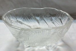 """Vintage Mikasa Ice Castles textured Oval Serving Bowl 8 5/8"""" x 4 1/4"""" Tall - $20.00"""