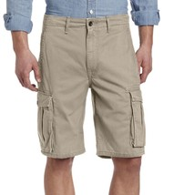Levi's Men's Premium Cotton Ace Twill Cargo Shorts Relaxed Fit Beige 124630022