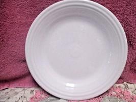 """Homer Laughlin Fiestaware White Dinner Plate Fiesta 10 1/2""""  New  USA - $8.50"""