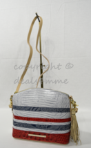 NWT Brahmin Mini Duxbury Shoulder/Crossbody Bag in Bluestone Habanera Tri-Textur - $219.00