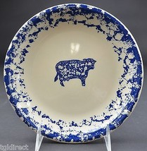 "Tienshan Pottery Animals Pattern  Cow Salad Plate 7.625"" Wide Spongeware... - $7.99"