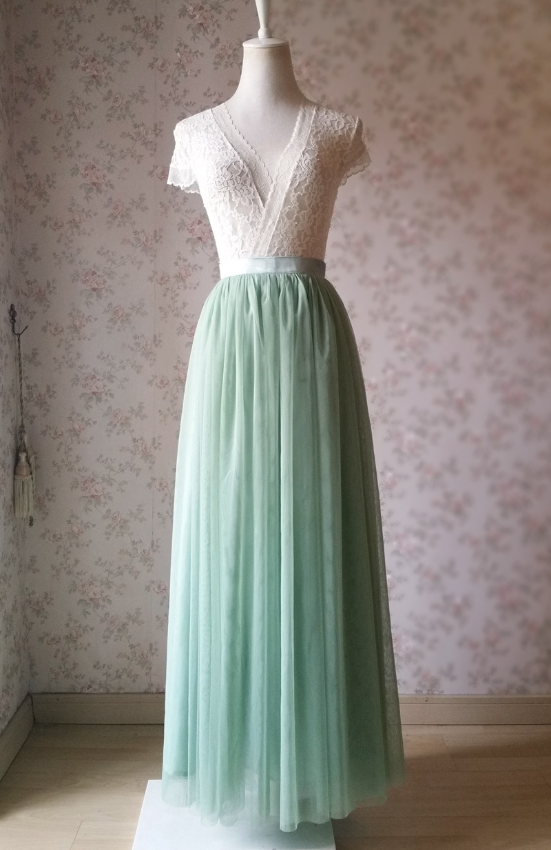 Green wedding skirt 4