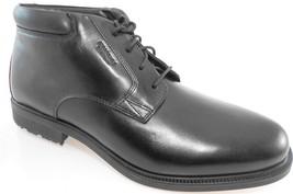 Rockport V75502 Men's Black Leather Waterproof Dress Boots Sz 10.5 Wide(W) - $87.99