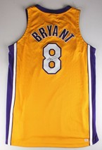 Signed KOBE BRYANT #8 Los Angeles Yellow Basketball Jersey PSA/DNA #9A03946