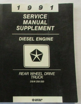 1991 DODGE RAMCHARGER TRUCK D&W DW 150 250 350 Service Manual Supplement - $38.56