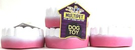 4 Ct Multipet Just Wanna Have Fun 4 Inch Vinyl Teeth Squeaky Dog Toy - £13.44 GBP