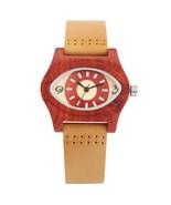 REDFIRE Charm Eye Shaped Red Wood Display Women's Watch Quartz Brown Gen... - $28.68
