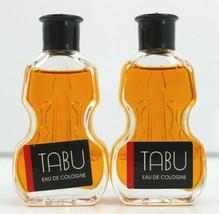 Lot of 2 Tabu Vintage Eu De Cologne Perfume Fragrance Mini 0.5 oz. 15mL ... - $16.44