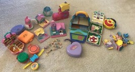 Vintage Polly Pocket Houses Compacts Dolls Pollyville READ Pull Out Play... - $49.50