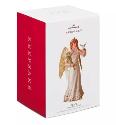 Primary image for HALLMARK 2018 Ornament New PEACE ANGEL 1st in Christmas Angels Series SHIP FREE