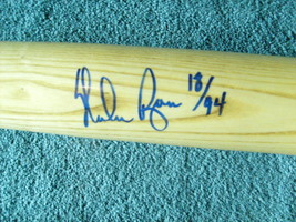 NOLAN  RYAN  AUTOGRAPHED  BAT  HAND  SIGNED  +  NUMBERED 18  OF  94  L. ... - $174.99