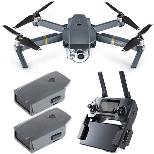 DJI Mavic Pro Quadcopter Drone with 4K Camera and Wi-Fi Dual Battery Bundle