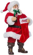 Kurt Adler 10-Inch Santa With Coke Bottle And Stocking - $124.70
