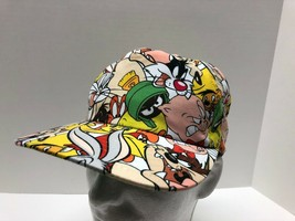 Official Looney Tunes Characters All Over Sublimated Snapback Cap Hat On... - $14.80