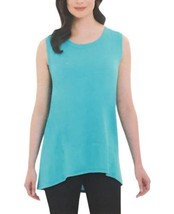NEW Adrienne Vittadini Ladies' High-Low Sleeveless Top Aquatic
