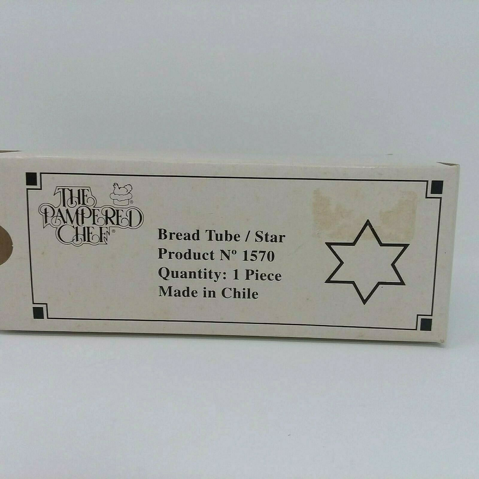 Primary image for Brand New Pampered Chef Bread Tube Star Kitchen Gadgets Bake Baking