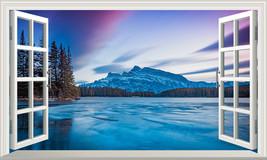 Banff National Park Canada 3D Magic Window Wall Art Self Adhesive Sticke... - $15.13+