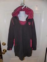 Nike Lightweight Hooded Sweatshirt Gray/Pink Size M Girl's EUC HTF - $20.28