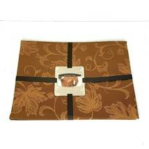 Autumn Vine Set of 4 Damask Placemats in Bronze Brown Fall Leaf  - $14.29