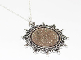 Star Pendant Lucky sixpence Birthday + 18in Sterling Silver Chain 1953 -... - $19.15+