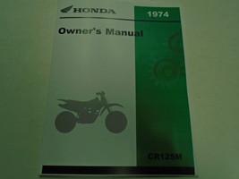 1974 Honda CR125M Elsinore Propietarios Operadores Propietario Manual Nu... - $58.97