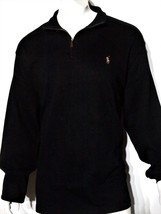 Polo Ralph Lauren size xs men's estate rib mock neck pullover sweater black - $69.95