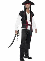 Aye Aye Pirate Captain Costume, Large, Adult Fancy Dress Costumes, Mens - $33.93