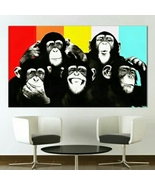 Monkey Business Wall Decor On Canvas No. BDMB-1100 - $14.00+