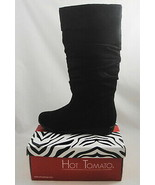 Hot Tomato Giselle Classic Black Faux Suede Slouch Boots Women 6.5 M Coz... - $19.79