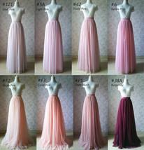 Blue Tulle Maxi Skirt Full Length Tulle Skirt Blue Themed Wedding Skirt Outfit image 15