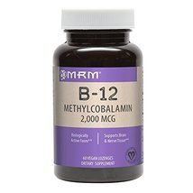 MRM Vitamin B-12 Methylcobalamin Sublingual Tablets, 2000 mcg., 60 Lozenges image 5