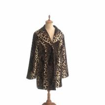 Susan Graver Style Women's Leopard Animal Print Plush Swing Jacket Size M - $41.80