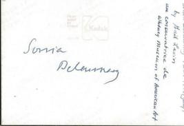 Artist Sonia Delaunay Signed Vintage 3.5x5 Photo JSA  - $247.49