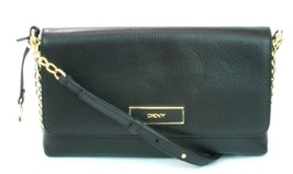 DKNY Donna Karan Black Leather Shoulder Bag Handbag Small RRP £225.00 - $209.63