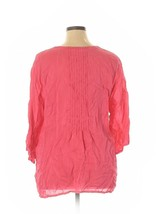 Johnny Was Women's Top Plus Size 1X Tunic Pink Boho Embroidered Relaxed Fit image 2